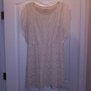 Forever 21 plus cream lace dress size 2x